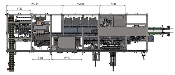UNISTA - Flexible packaging line - bottle blower - filling - capping machine 2